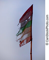 torn flag - Faded torn flag, could be used to symbolize the...
