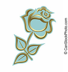 grief - a simplified illustration of a golden rose