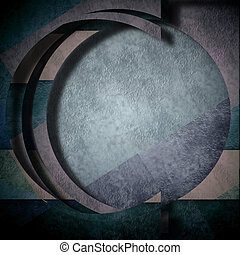 background abstract composition, round circle geometric -...