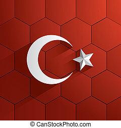 Turkey Football Team Flag - Abstract Turkey Football Team...
