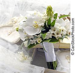 Bridal bouquet. - Bridal bouquet of orchids.