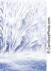 frozen glass - frostwork