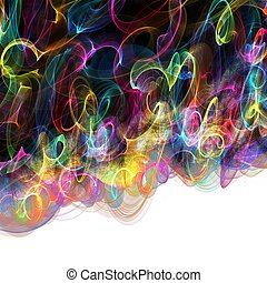 Abstract Digital Rainbow Background - Royalty free clip art...