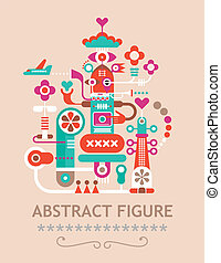 Abstract Figure - Abstract vector figure composition with...