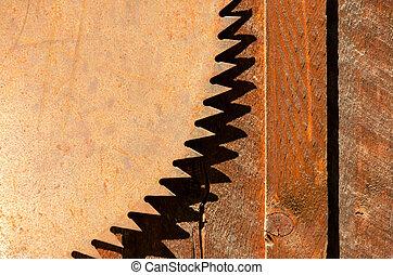 Saw Teeth - Rusted blade of an old circular saw