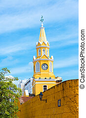 Cartagena Clock Tower - Historic clock tower marking the...