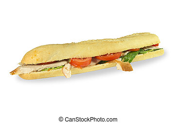 Tuscan chicken baguette.