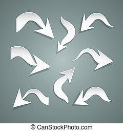 Vector Paper Arrows