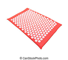 yoga mat - traditional yoga meditation mat isolated on white