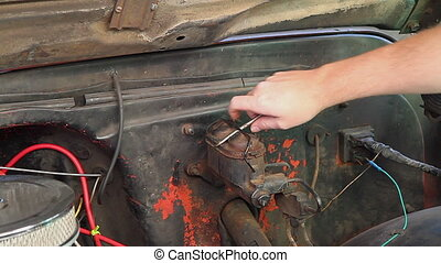 Checking Break Fluid Classic Truck - DIY Mechanic Checking...