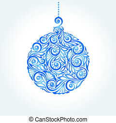 Christmas ball design element for Christmas cards