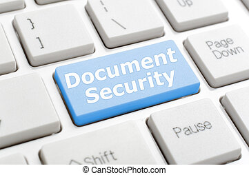 Document security on keyboard
