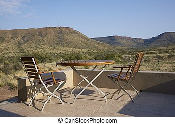 Veranda - Rest camp in Karoo National Park in the Western...