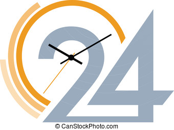 Clock face Vector illustration