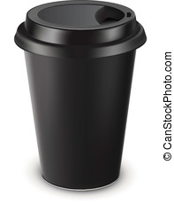 Disposable coffee cup isolated Vector illustration