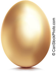 Golden egg Vector illustration