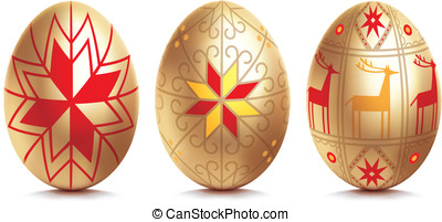 Easter egg. Vector illustration