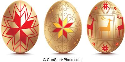 Easter egg. Vector illustration