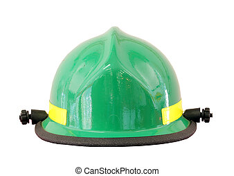 firemans helmet isolated - firemans helmet isolated over a...