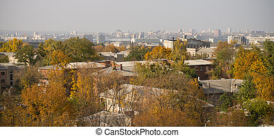 Kharkov City Roof View, Autumn