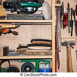 Tool Cabinet (detailed shot) - Wooden Tool Cabinet (detailed...