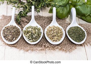 Porções, freh, ervas