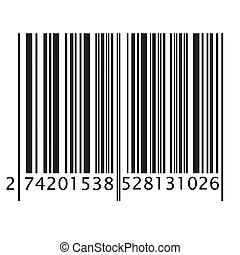 Bar code - Isolated bar code on white background, vector...