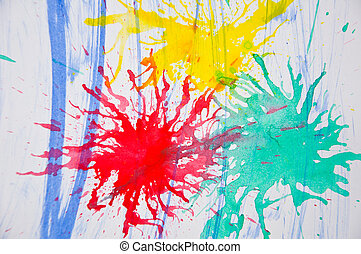 Abstract water color - colorful of various Abstract water...
