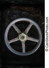 iron tap - rusty big iron tap