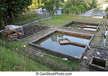 construcción, Drenaje, agua, filtración