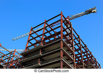 building construction - New steel and concrete building...