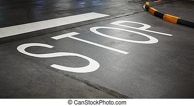 road markings, stop line