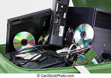 Broken computer appliance - Closeup of a old broken computer...