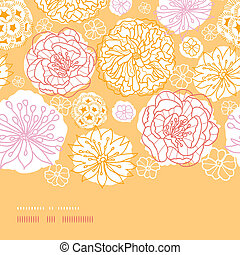 Warm day flowers horizontal decor seamless pattern...