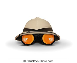 Explorer Hat and Binocular