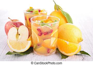 フルーツ, ジュース, カクテル