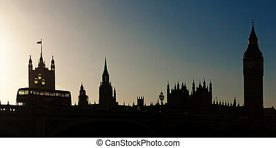 Houses of Parliament Skyline in Silhouette