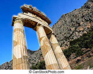 Athena Pronoia Temple at Delphi - Temple of Athena pronoia...