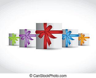set of gift, presents. illustration design