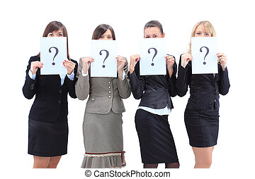 Group business women - Group of unidentifiable business...