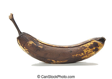 old brown over ripened bananas - old brown unhealthy rotten...