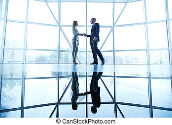 Business deal - Image of successful businessman and...