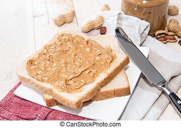 Peanut Butter Sandwich - Fresh made Peanut Butter Sandwich