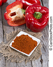 Portion of Paprika Powder macro shot