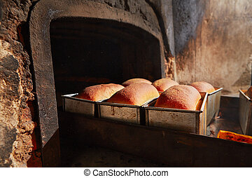Bakery - Traditional preparation of bread in the bakery.