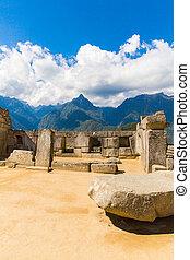 misteriosa, cidade, -, machu, picchu, Peru, SUL,...