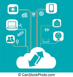 cloud computing and its functions - a white cloud related...