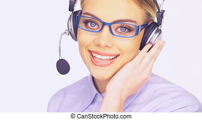 Beautiful telesales lady - Beautiful young telesales lady...