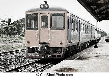 old photo train