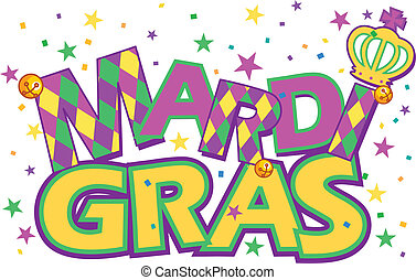 Mardi Gras - Mardi Gras type treatment with crown